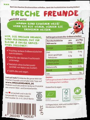 Freche Freunde 100% eper, ropogós BIO eperszeletek 12 g