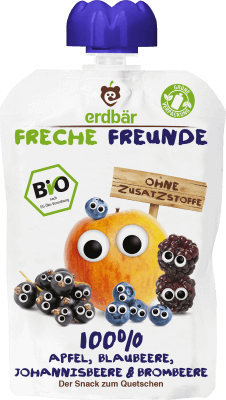 Freche Freunde Alma, áfonya, szeder, kék áfonya Mix BIO gyümölcspüré 100 g