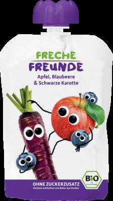 Freche Freunde Alma, eper, áfonya, lila répa BIO gyümölcspüré 100 g